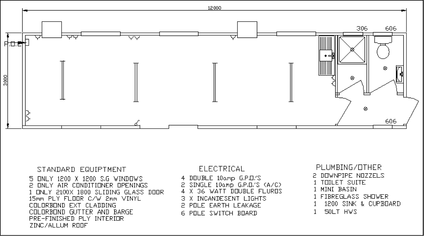 Portable Building Diagram